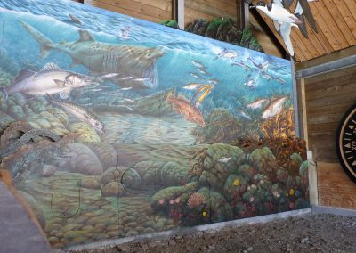 Lundy Information Centre - Mural