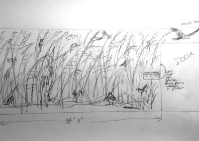 Noah's Hide Mural - Pencil Rough