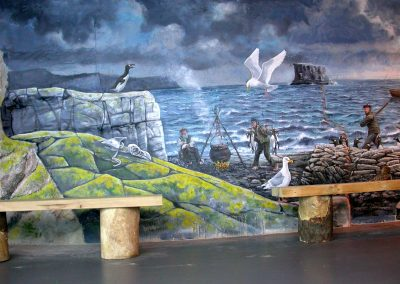 Living Coasts Mural - The Story of the Great Auk